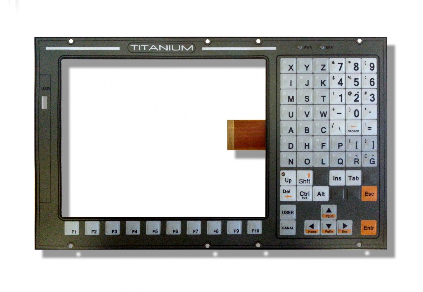 Flexible membrane keyboards